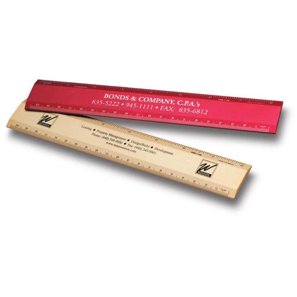 "8"" Metal Desk Ruler"